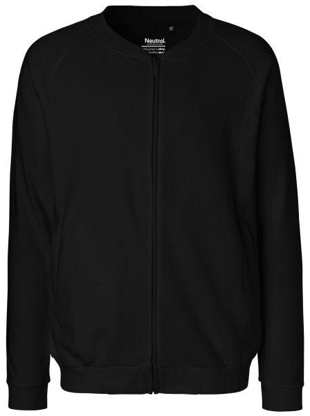Zip-Jacke Bio-Baumwolle neutral schwarz NE73501