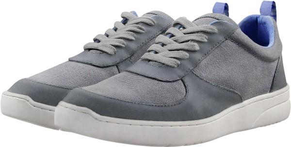 Damen Fairtrade Sneaker aus Leder und Bio-Baumwolle - grau