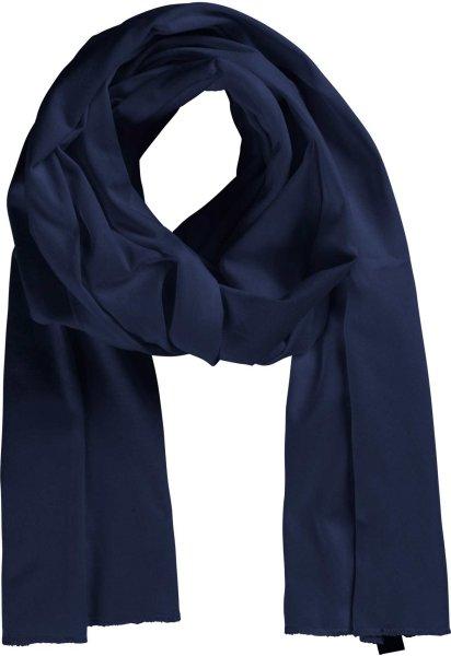 Leichter Fairtrade Schal aus Bio-Baumwolle - navy