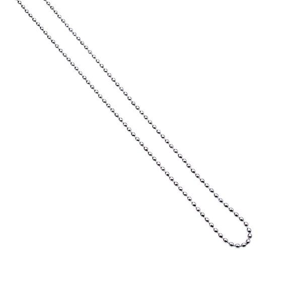 Basic Kugelkette – weiß vergoldet