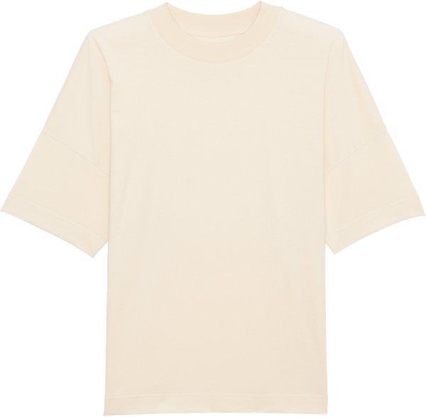 Oversized T-Shirt mit breitem Kragen aus Bio-Baumwolle - natural raw