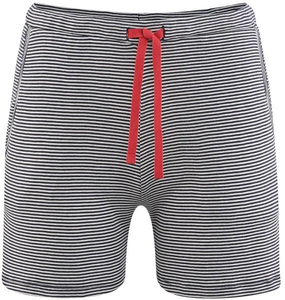 Ringel Schlaf-Shorts Bio-Baumwolle – navy/white