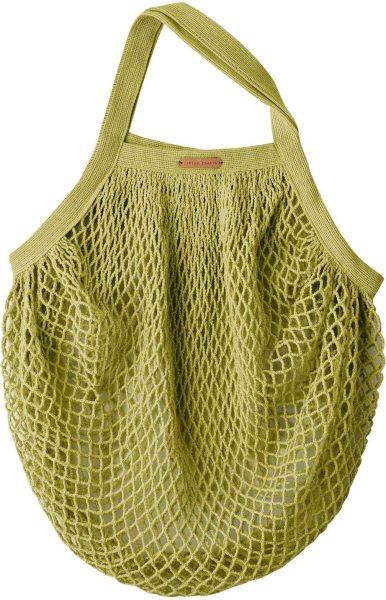 Kleine Netztasche aus Bio-Baumwolle - 36x40cm - leaf green