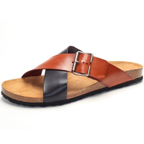 Sandale mit Fußbett - vaqueta - negro-cuero