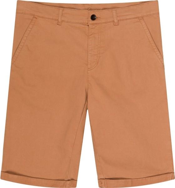 Walkshort - Shorts aus Bio-Baumwolle - tabakbraun