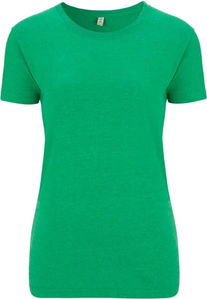 Recycled T-Shirt aus Baumwolle und Polyester - melange green - Bild 1