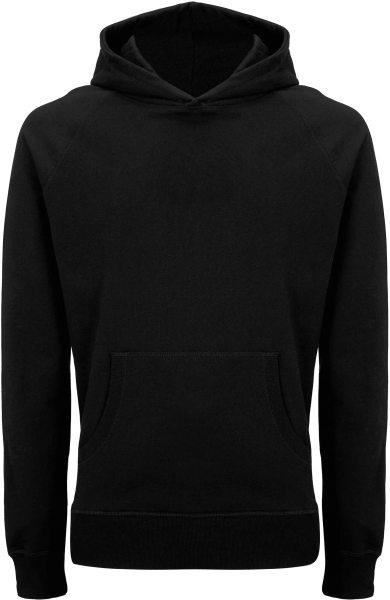 Recycled Unisex Hoodie aus Baumwolle und Polyester - black