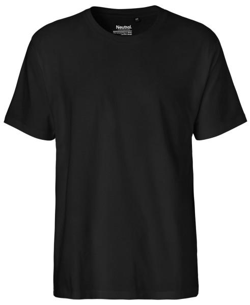 Herren Classic T-Shirt schwarz Biobaumwolle Neutral