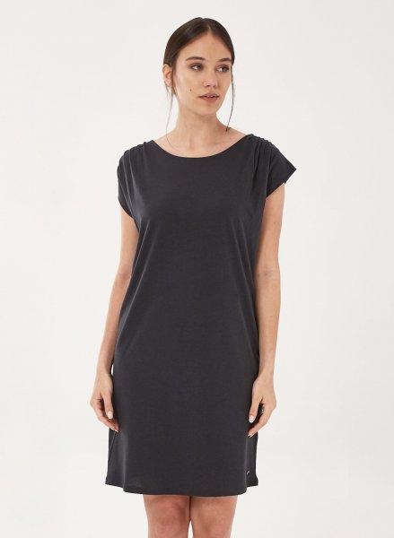 Kurzarm-Kleid aus Tencel und Bio-Baumwolle - onyx