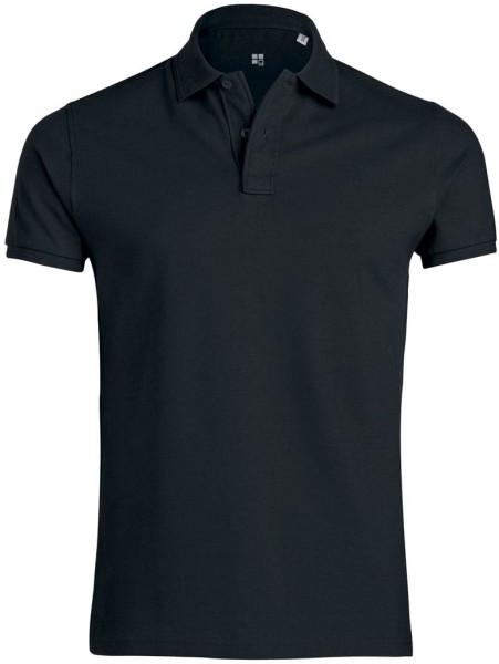 Performs - Piqué-Poloshirt aus Bio-Baumwolle - schwarz