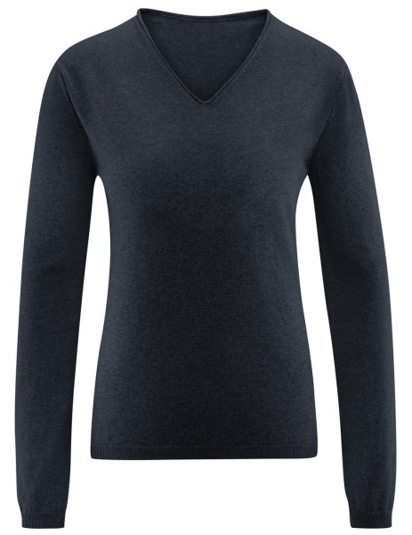 """Pullover """"Desiree"""" aus Bio-Baumwolle - grau-meliert"""