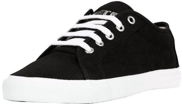 Fairer flacher Skater-Schuh aus 100% Biobaumwolle in schwarz