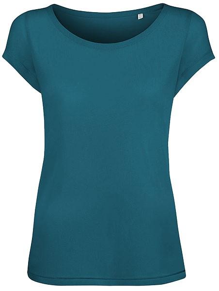Glows Modal - Boatneck T-Shirt aus Modal - petrol - Bild 1