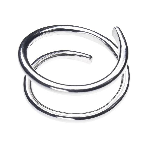 Spiral Ring aus recyceltem Silber