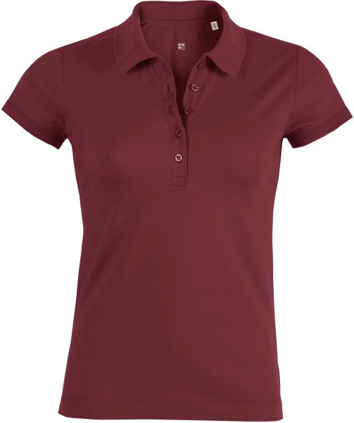 Piqué-Poloshirt Bio-Baumwolle - burgundy