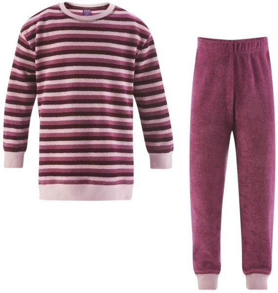Kinder Frottee-Schlafanzug - Biobaumwolle - wild berries - Bild 1