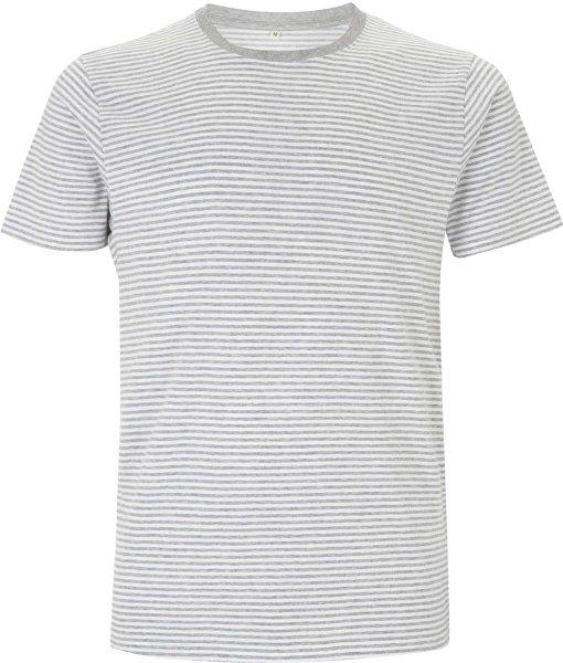 Bio T-Shirt gestreift grau-weiss