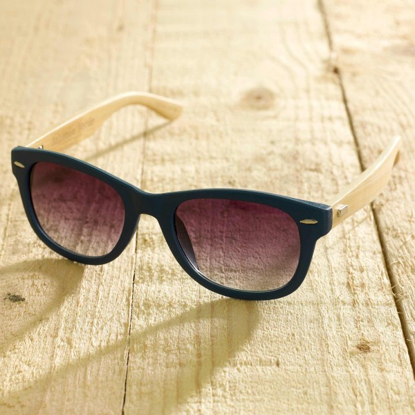 Trento - Sonnenbrille aus recyeltem Kunststoff & Bambus - blue