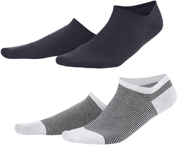 Damen Sneaker-Socken Bio-Baumwolle - navy/white
