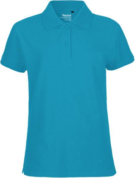 Piqué Polo Shirt Ladies sapphire GOTS