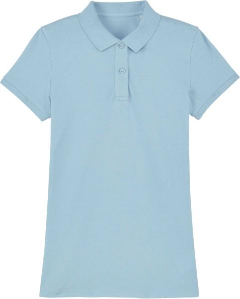 Piqué-Poloshirt aus Bio-Baumwolle - sky blue