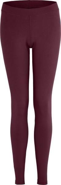Leggings aus Bio-Baumwoll-Jersey - aubergine