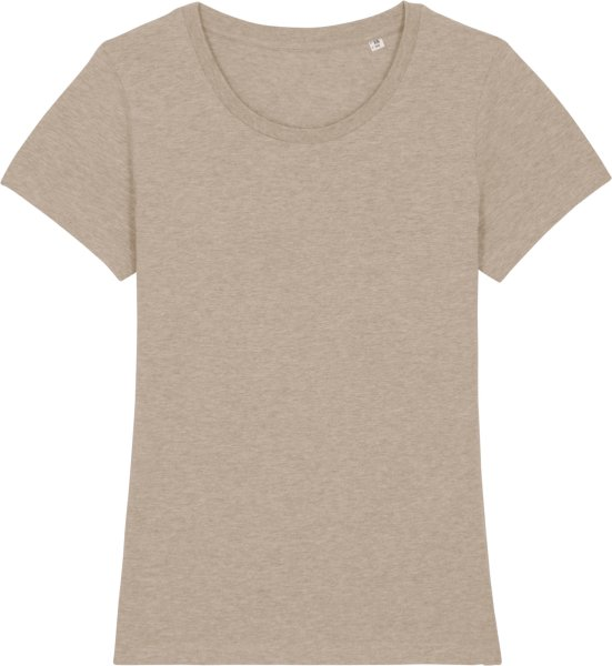 T-Shirt aus Bio-Baumwolle - heather sand
