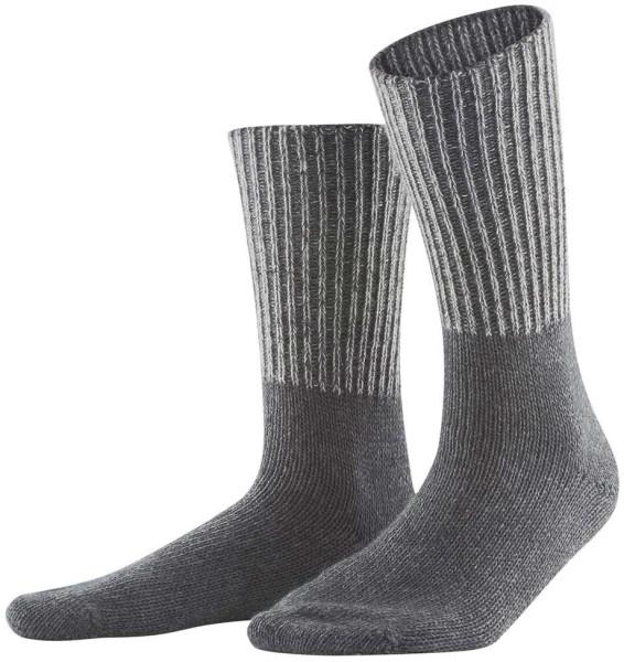 Socken aus Bio-Baumwolle und Bio-Wolle - anthra melange