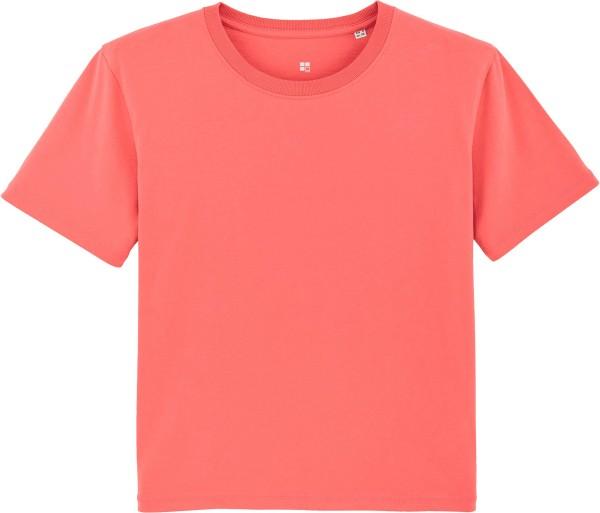 Kastenförmiges T-Shirt aus Bio-Baumwolle - coral wave