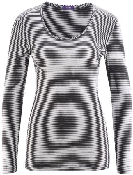 Schlaf-Shirt aus Bio-Baumwolle - navy/white