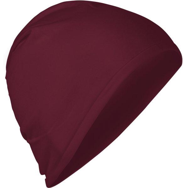 Fairtrade Jersey-Mütze aus Bio-Baumwolle - bordeaux - Bild 1