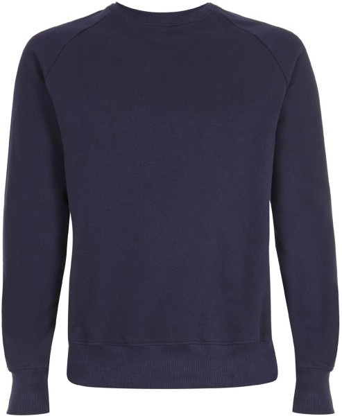sports shoes fd581 1f34c Organic Raglan Sweatshirt - navy