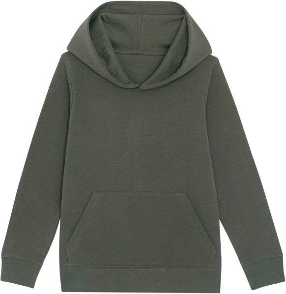 Kinder Hoodie aus Bio-Baumwolle - khaki