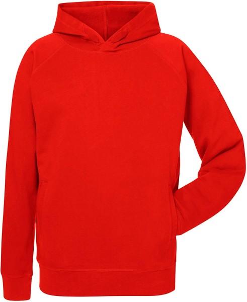 Kapuzenpullover Bio-Baumwolle - bright red
