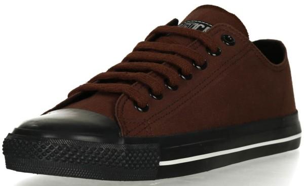 Fairer Sneaker mit schwarzer Kappe - Biobaumwolle