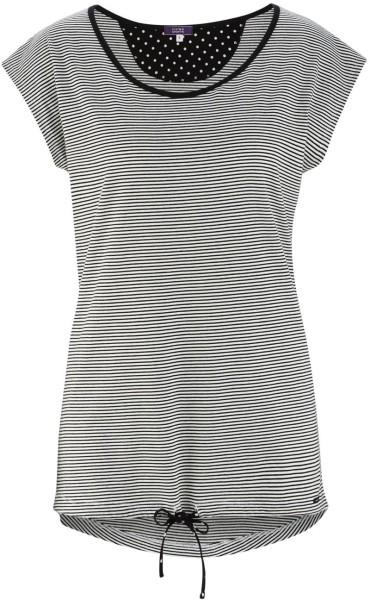 Schlaf-Shirt aus Bio-Baumwolle - offwhite/stripes