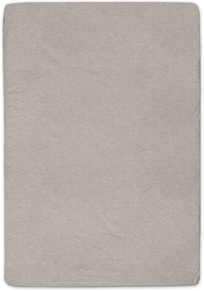 Spannbetttuch aus Bio-Baumwolle 140x200 cm - brown melange