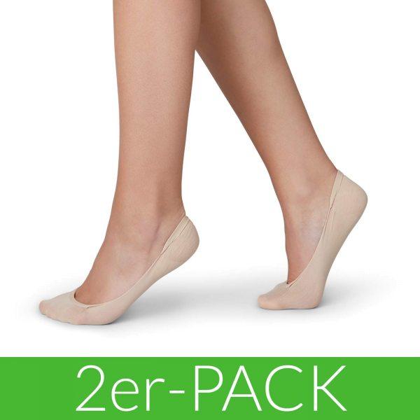 Ida Premium Steps - Füßlinge aus Nilit - 2er-Pack - nude light
