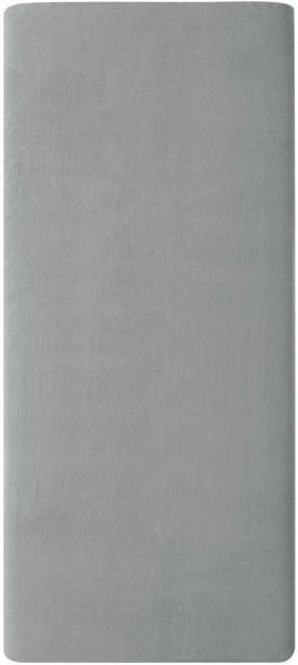 Flanell-Spannbetttuch aus Bio-Baumwolle 100x200cm - grey