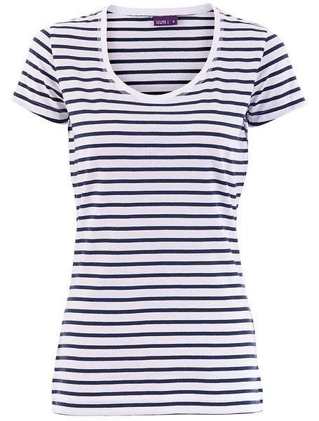 Gestreiftes T-Shirt aus Biobaumwolle - blau-weiss - Bild 1
