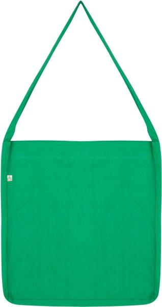 Recycled Sling Bag aus Baumwolle & Polyester - melange green