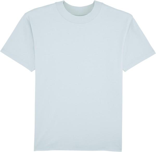 T-Shirt mit hohem Halsabschluss - baby blue