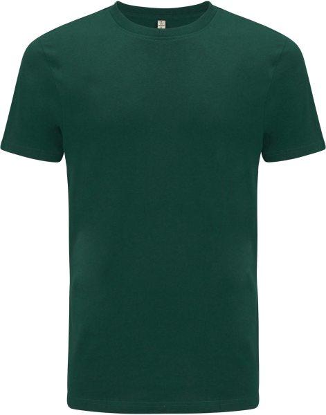 Recycled T-Shirt aus Baumwolle und Polyester - bottle green