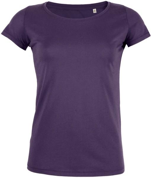 Loves - Jerseyshirt aus Bio-Baumwolle - plum - Bild 1