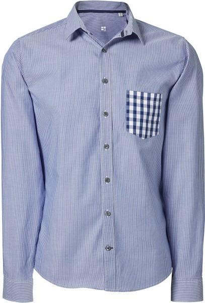 Hemd aus Biobaumwolle - white-light blue/check