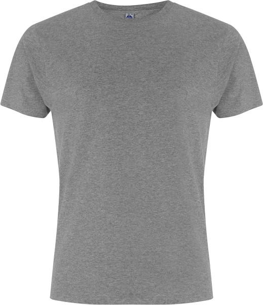 Kurzarm T-Shirt grau meliert Bio-Baumwolle GOTS vegan