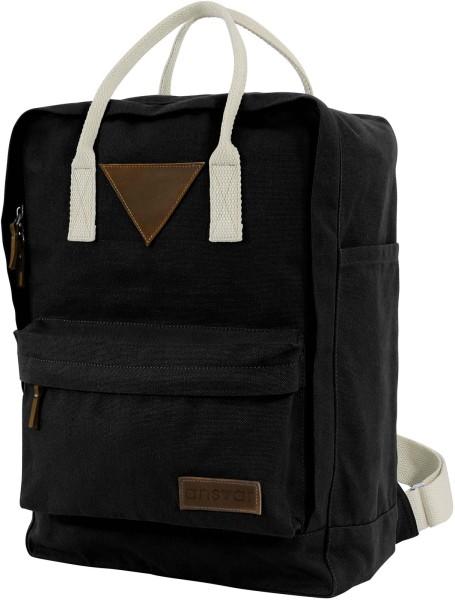 Fairtrade Rucksack Ansvar II - Bio-Baumwolle - schwarz