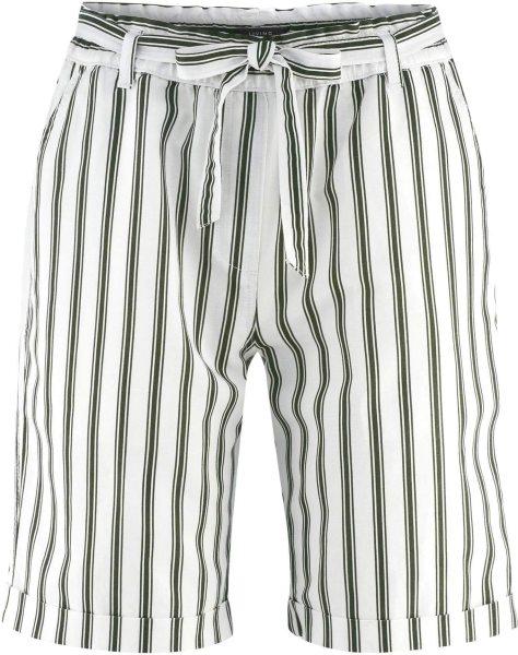 Bermuda-Shorts aus Bio-Leinen und Bio-Baumwolle - offwhite/amazonas