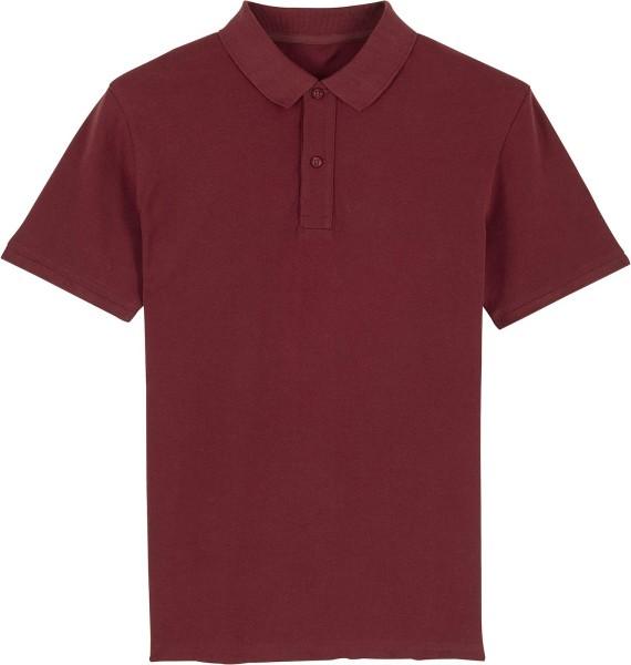 Piqué-Poloshirt aus Bio-Baumwolle - burgundy