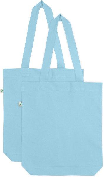 Doppelpack - Organic Cotton Bag - aquamarin